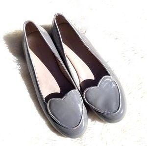 Elephantito heart flat loafers gray girls 4